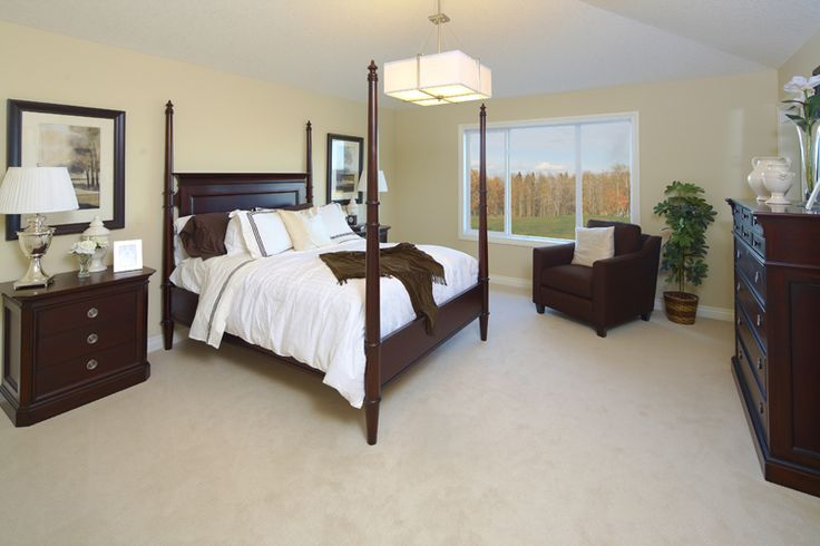 Master Bedroom. Stanford - WestView Builders Show Home Calgary   http://westviewbuilders.com/about/page/CompanyBackground