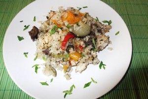 Курица с рисом и овощами в духовке. Как приготовить ленивый рис