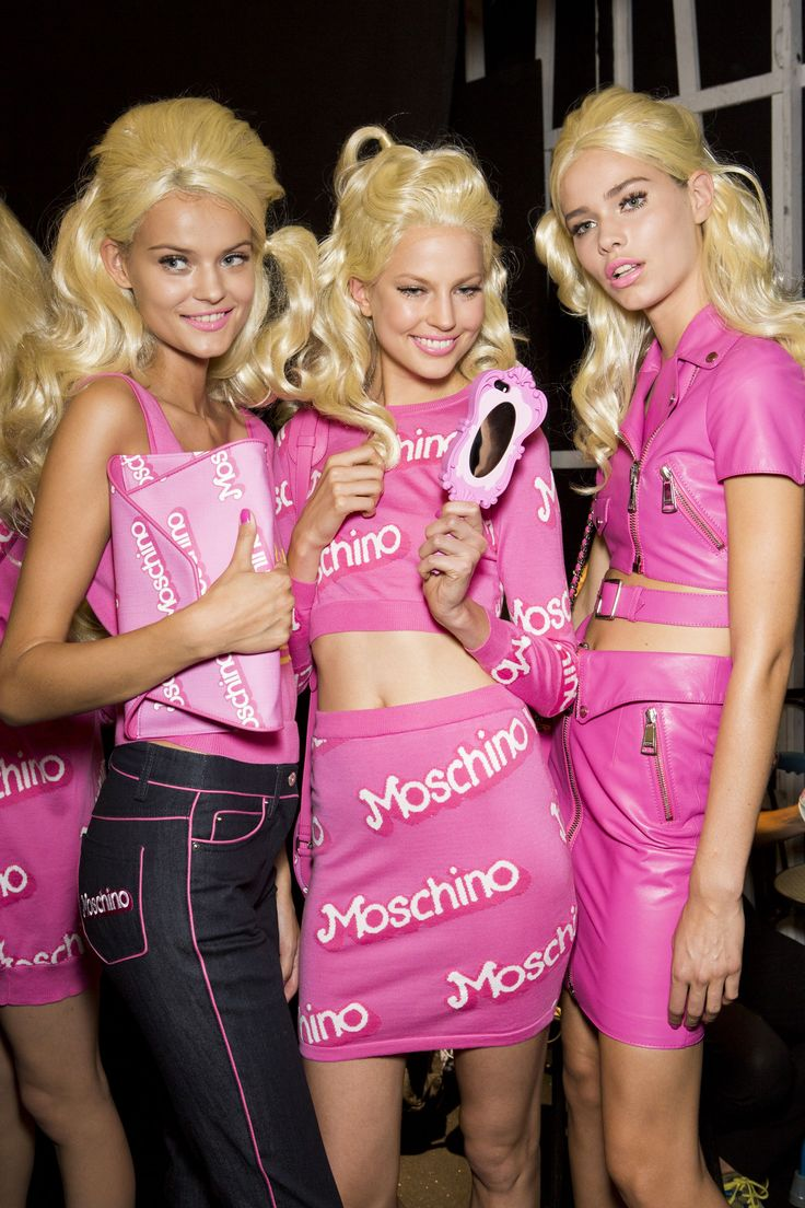 Jeremy Scott's Barbie themed spring/summer collection for Moschino ************************Easy } High } Fashion } Editorial } Cosplay } Modern } Best } Models } Runway } #CaraDelevingne } #KendallJenner } Couture } Artsy } Crazy } Costume } Halloween } #Comiccon www.STATEOFCHIC.com State of Chic does not own any rights to this content. We are only repining great ideas to share. Cuz we're the BOMB! Booyah!