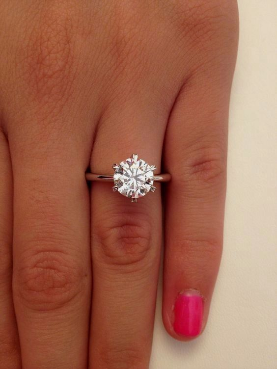 2 00 Ct Round Cut D VS1 Diamond Solitaire Engagement Ring 14k White Gold / www.himisspuff.co ... #GoldJewelleryDreams