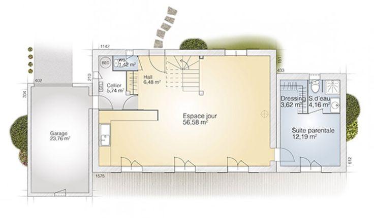 Plan maison neuve construire maisons france confort for Log home planimetrie