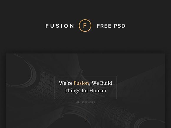 Fusion – портфолио шаблон PSD