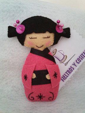 Felt Kokeshi Doll