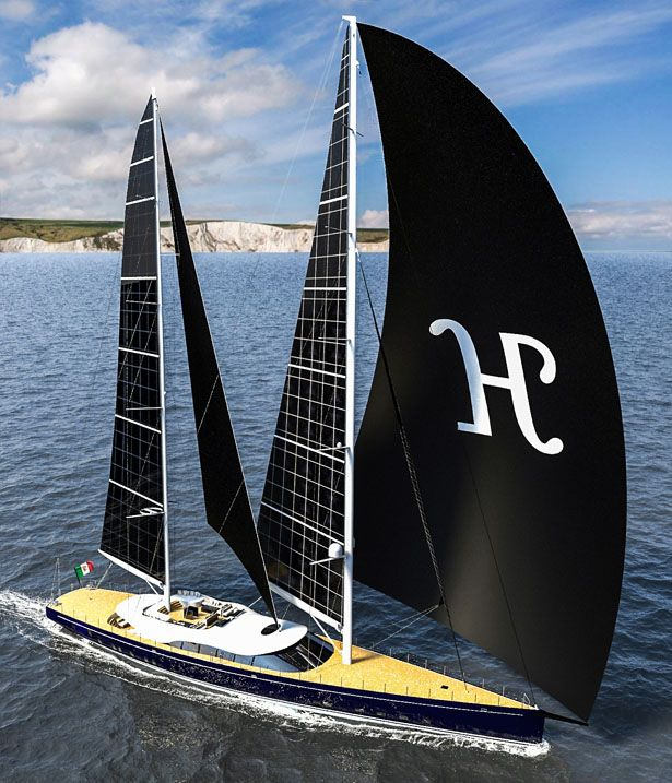 """I like ...big boats and I cannot lie."" Solar Powered Sailing Yacht Helios by Marco Ferrari and Alberto Franchi"