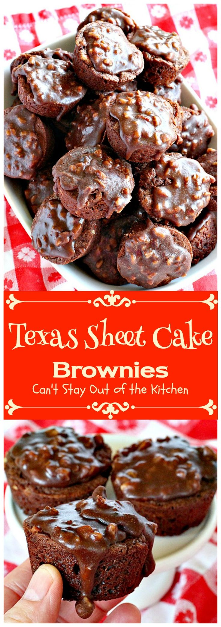 Texas Sheet Cake Brownies | Can't Stay Out of the Kitchen | oh my goodness…