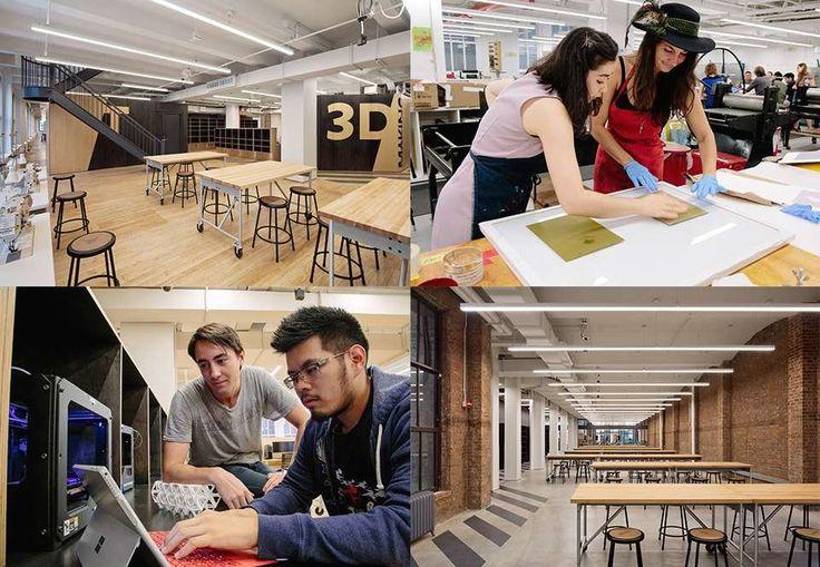 Parsons Making Center - Novoespaço colaborativo em Nova York para explorar ofuturo do design interdisciplinar stylo urbano #design #moda #parsonsschool #coworking #educação