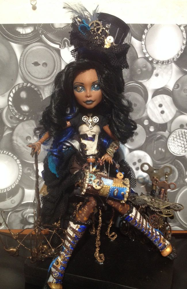OOAK steampunk Monster High Robecca Steam custom repaint 10.5in fashion doll #DollswithClothingAccessories