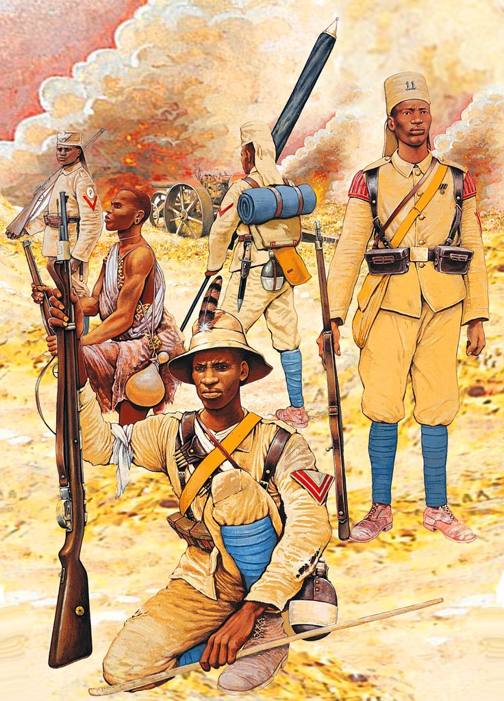 German Schutztruppe in East Africa during WWI