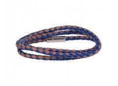 Leather chequered bracelet for boho style  #leather #bracelet #men #style #fashion