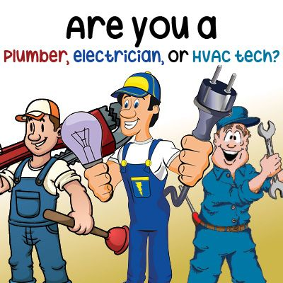 Quiz: Have you ever wondered if your personality is more suited to another career? You may have a hidden calling to be a plumber, electrician or HVAC technician! Don't believe us? Take this fun quiz to figure out which one you would be! And then share your results on your Facebook or Twitter page, and ask your friends to take the quiz!