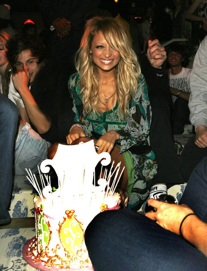Pin for Later: You Won't Believe How Much Nicole Richie Has Changed Since 2001  Nicole was surprised with a birthday cake of her own during a Teen Vogue Young Hollywood party in LA in September 2006.