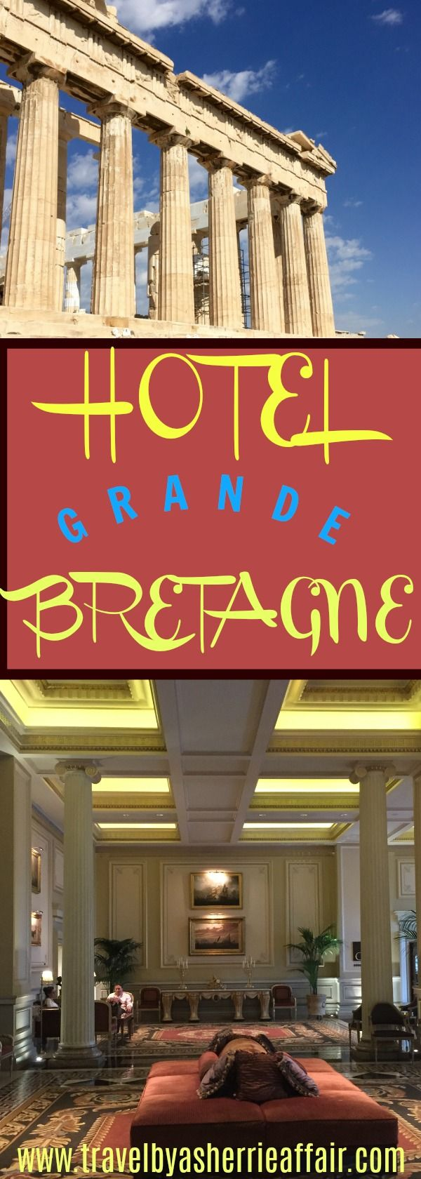 The Grande Hotel Bretagne, a luxury hotel in the heart of Athens Greece.  Beautiful and Stunning views from your hotel room and the roof top restaurant.  Friendly and luxurious atmosphere.