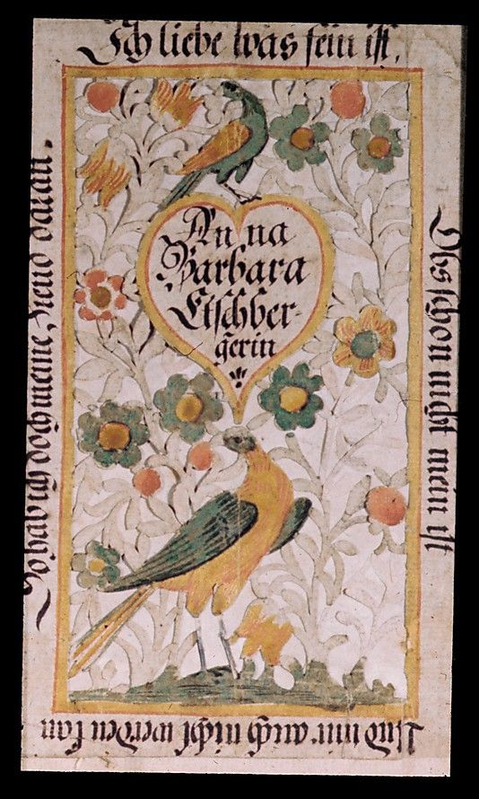 Fraktur ~ Hearts & Peacocks