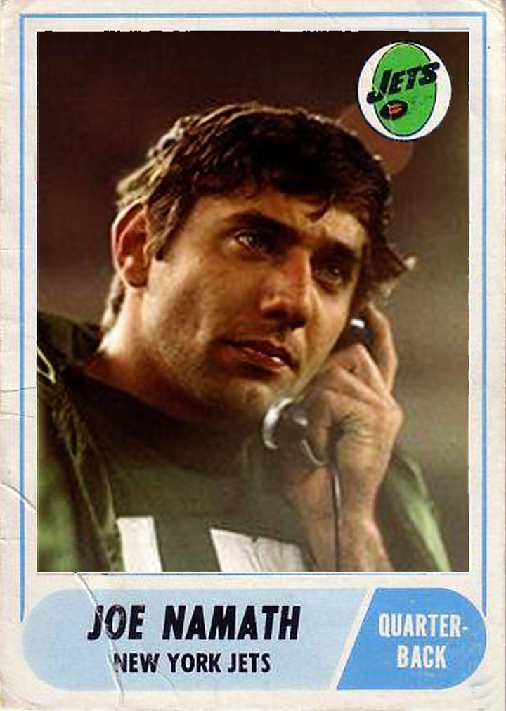 Cards that never were joe namath nfl football cards
