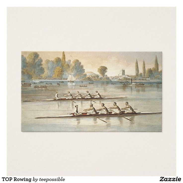 Check out this Rowing Business Card.  Great for the rower, rowing club, coxswain, or coach.
