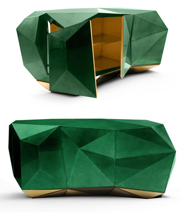 Diamond Emerald sideboard by Boca do Lobo /// Interiorator.com - Transmitting tomorrow's trends today on http://www.interiorator.com