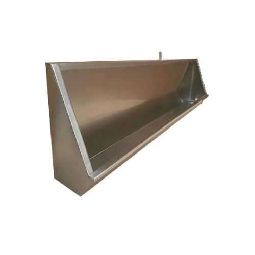 Stainless steel wall hung trough urinals with stainless steel cistern, pipework and waste fitting available from stock. Stainless steel urinals offer a hygienic cost effective alternative to traditional bowl urinals. Five standard lengths available to order online. 1200mm, 1500mm, 1800mm, 2100mm and 2400mm long urinals in stock.