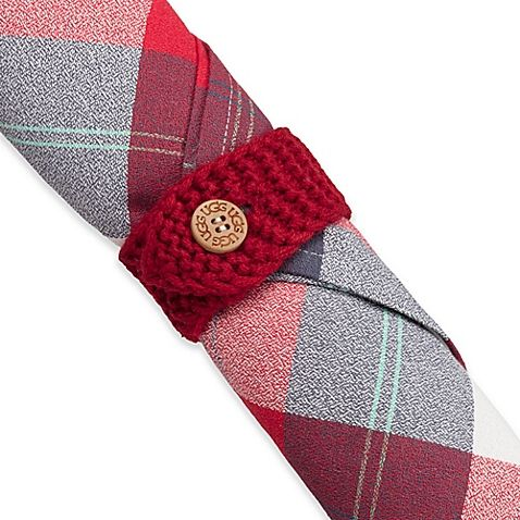 UGG® Knit Napkin Rings (Set of 4) When every detail matters, finish your table setting with the Knit Napkin Rings from UGG. Rich, textured knit lends a rustic touch in the perfect shade of red to complement your holiday dinnerware and décor. $16.99