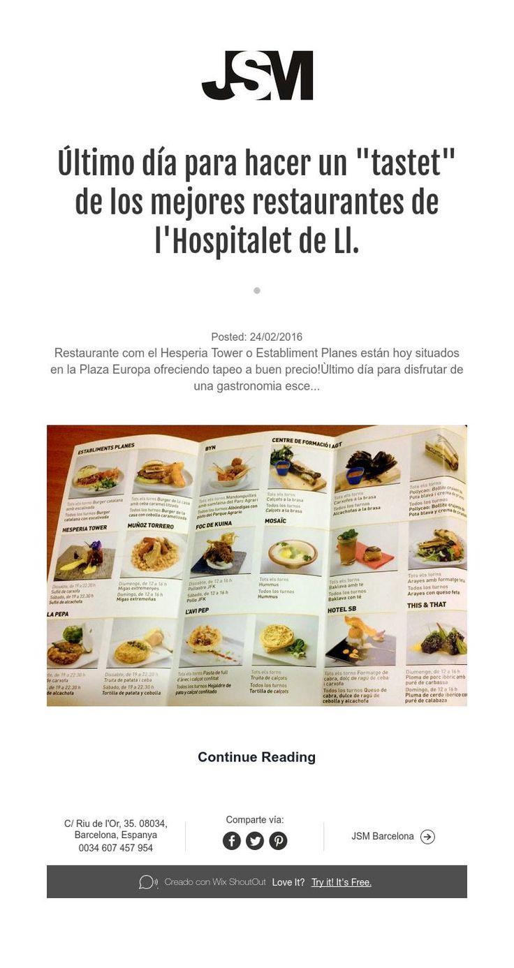 """Último día para hacer un """"tastet"""" de los mejores restaurantes de l'Hospitalet de Ll."""
