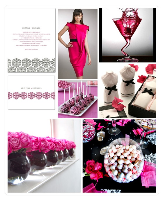 Pink And Black Wedding Ideas: 53 Best Images About Hot Pink, Black And White Wedding On