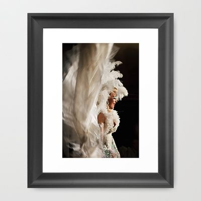 Lola In White Art Print by LinnB