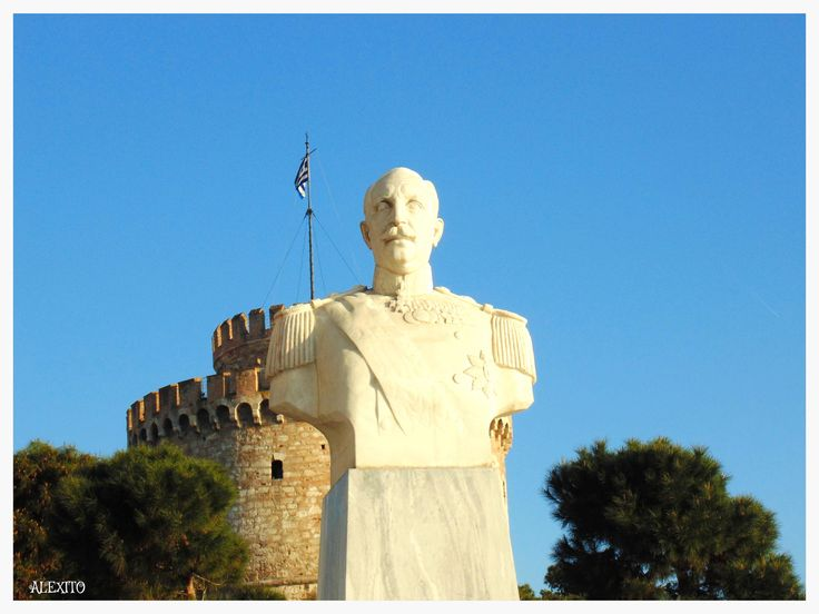 statue & white tower Thessaloniki Greece by Alexandra Fakiri on 500px