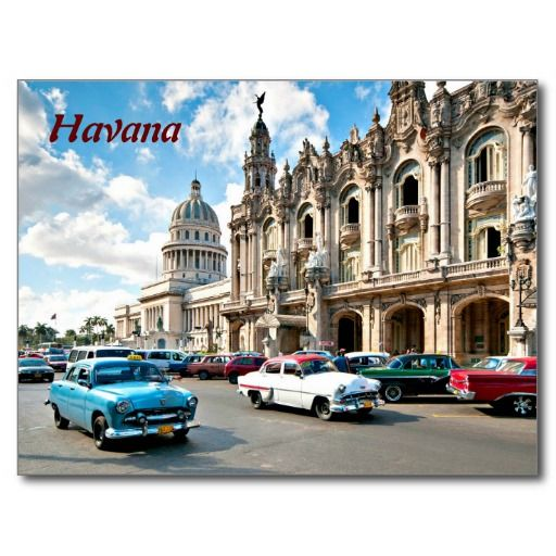 Foto vieja del Caribe de los coches de La Habana #tarjeta #postal #postcard