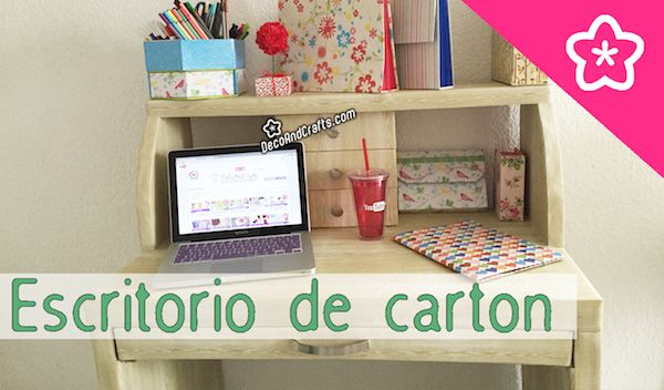 9 best images about muebles de cart n organizadores de for Como decorar un buro