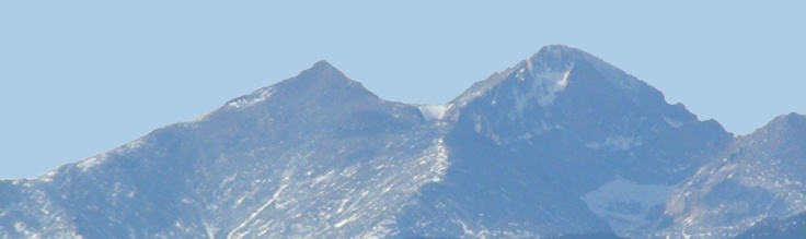 Longs Peak & Mount Meeker from Loveland, Colorado