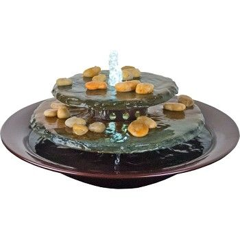 Tranquility Pool Tabletop fountain will add soothing water sounds to any room in your home or office.