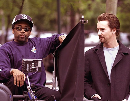 Spike Lee on the set of 25th Hour - 2002