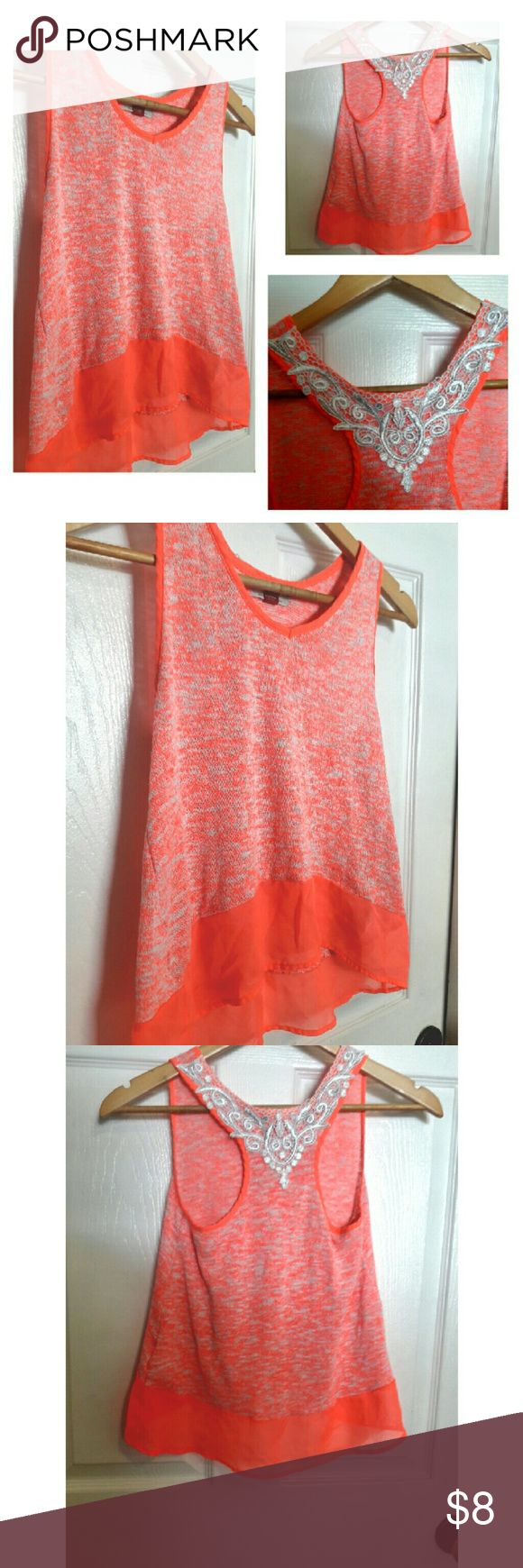Girls Knit peach top with crocheted back Girls Knit peach top with crocheted back. Size XL. No flaws. Smoke free home!! lei Shirts & Tops
