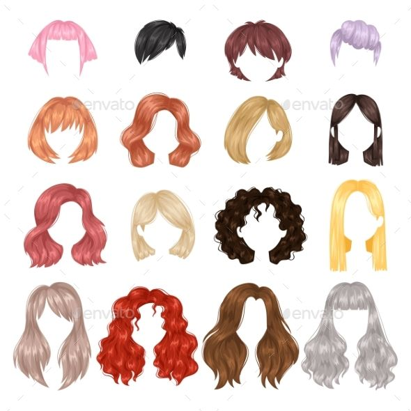 Vector Design Of Beautiful Collection Of Female Hairstyle