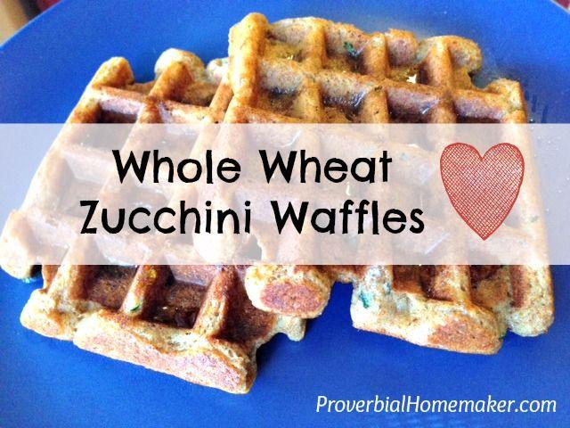 Whole Wheat Zucchini Waffles! My kids LOVE these. I used vegan options ...