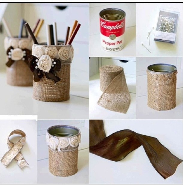 Recycled soup cans