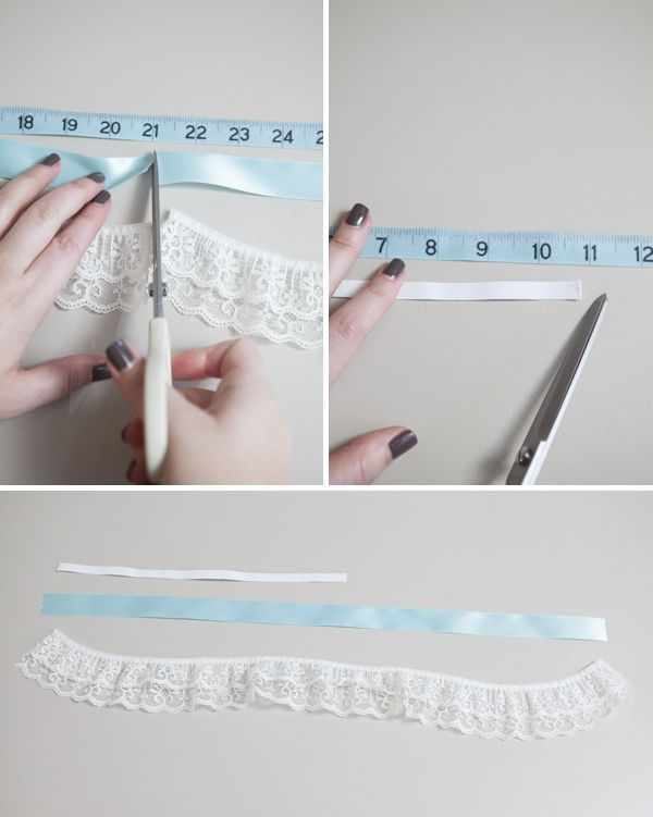 Love this tutorial to make your own garter. I used it and my garter looks amazing and it's personalized! Oh, and SOOO easy!