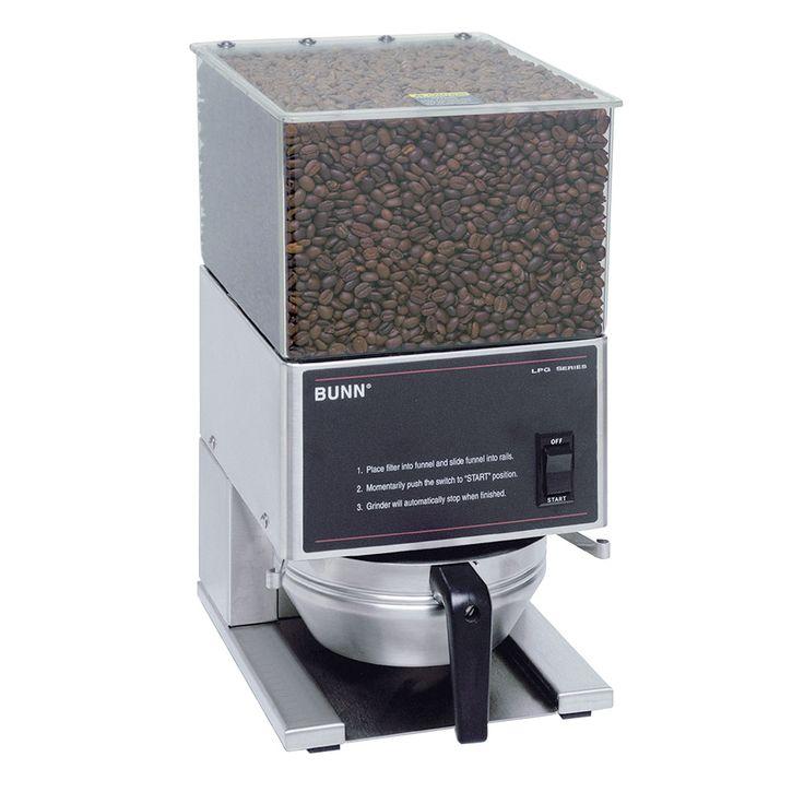 Bunn LPG-0001 LPG Low Profile Portion Control Coffee Grinder, 1 Hopper, S/S Finish (20580.0001)