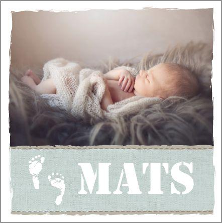Geboortekaartje mats fotoshoot babyfoto baby voetjes stoer zacht - Foto baby jongen ...