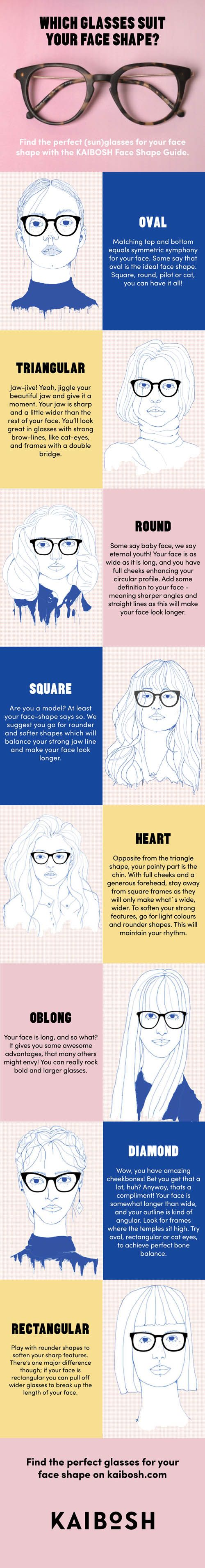 KAIBOSH | Face Shape Guide for Glasses | Shop glasses now on www.kaibosh.com