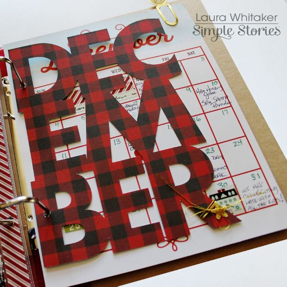 December Daily 2016 - die cut december page - Scrapbook.com