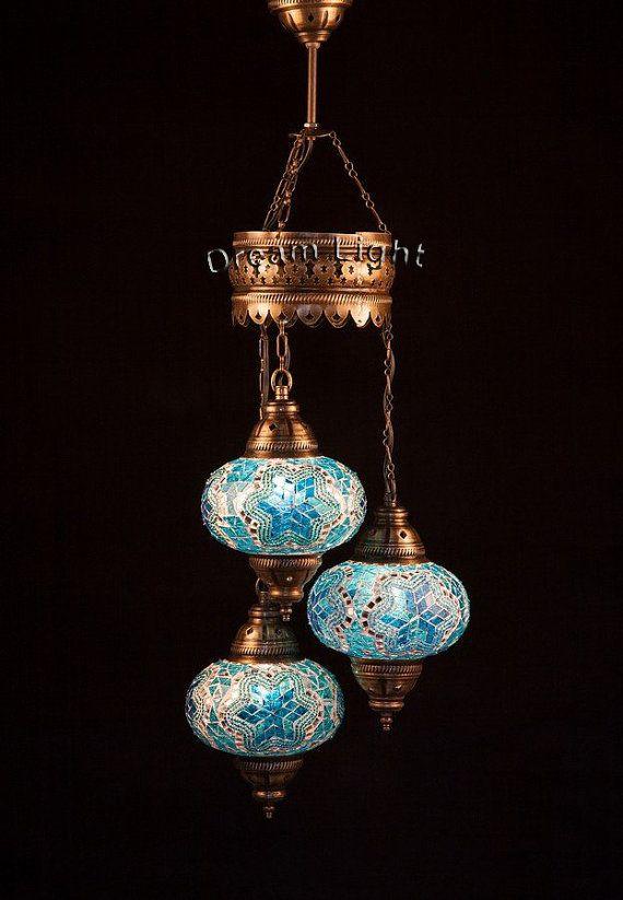 Spiral 3 Balls Lamp Turkish Mosaic Lamp by DreamLightBazar on Etsy