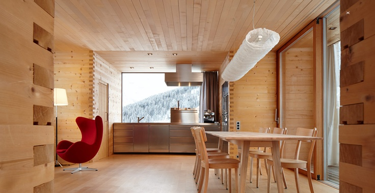 Vacation Homes In The Swiss Alps Showcase The Beauty Of Solid - schlichtes sauna design holz seeblick