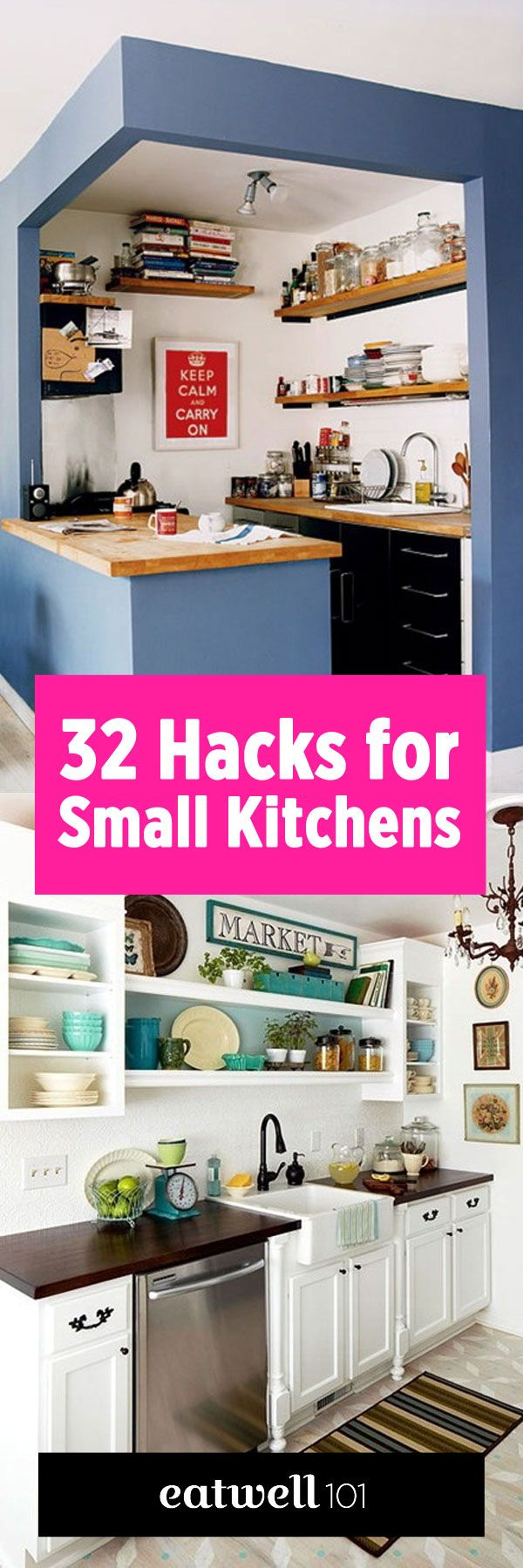 Best 25 small kitchen diy ideas on pinterest small kitchen organization small kitchen ideas - Kitchen ideas for small space decor ...