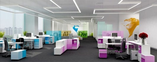 We Love This Beautiful Funky And Colourful Office Furniture