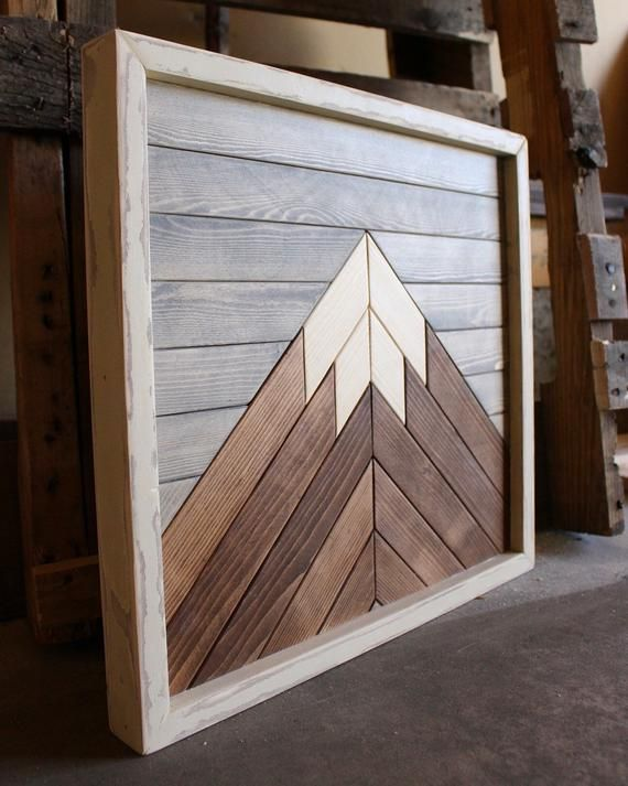 Mini Mountain Mountain Wood Art Mountain Range Wood Wall Art