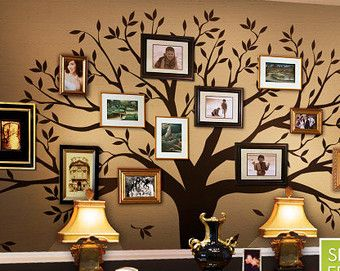 family tree wall decal I'm going to replicate this...freehand tho!!