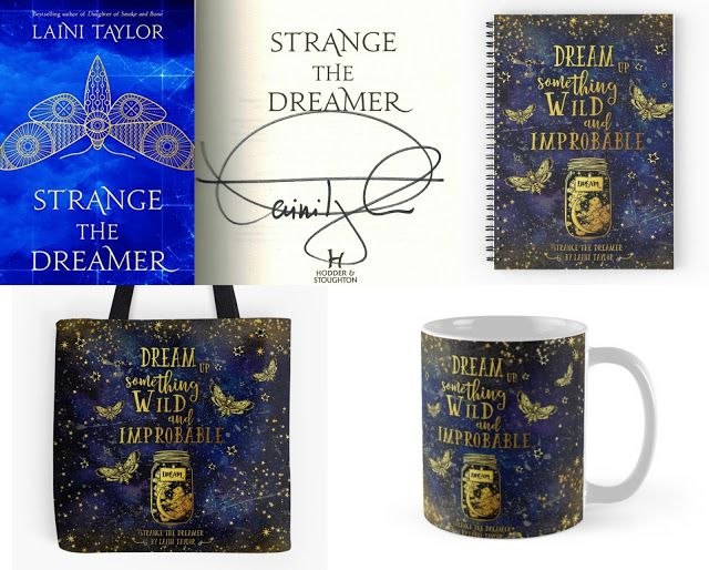 With Love for Books: Strange the Dreamer Signed Hardback, Tote Bag, Mug...