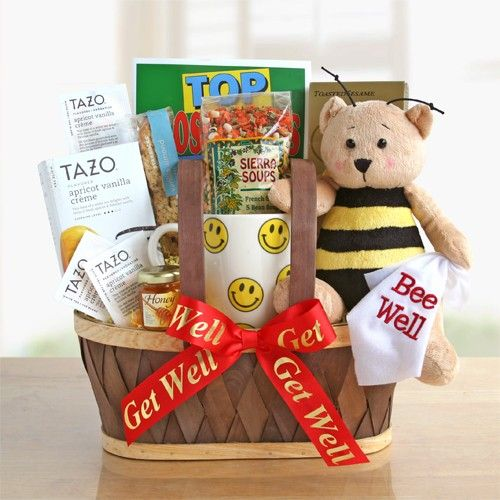 98 best gift baskets towers images on pinterest chocolate bee well wishes 7099 this cheerful basket features a sweet bee well bear that negle Image collections