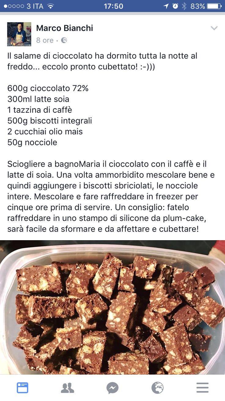 Salame al cioccolato vegan