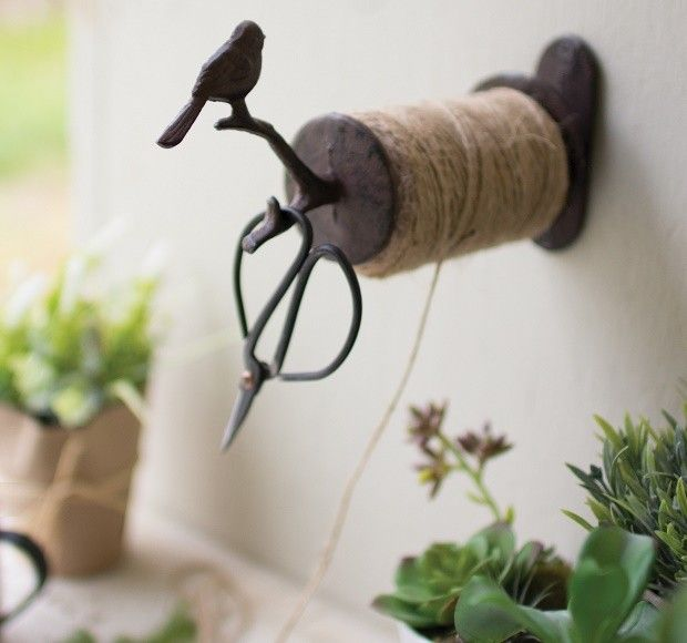 Kitchen Twine Kitchen Twine Dispenser | Jute Twine | Cast Iron String Holder | Hanging String Holder